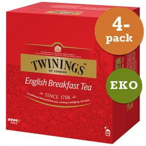 English Breakfast EKO 4x100påsar Twinings