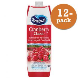 Cranberry Classic 12x1liter Ocean Spray