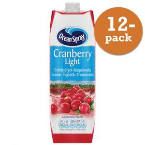 Cranberry Classic Light 12x1liter Ocean Spray