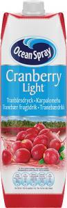 Cranberry Classic Light 1x1liter Ocean Spray KORT HÅLLBARHET