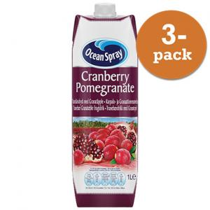 Cranberry Pomegranate 3x1liter Ocean Spray