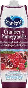 Cranberry Pomegranate 1x1liter Ocean Spray KORT HÅLLBARHET