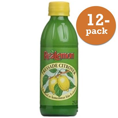 pressad citron på flaska