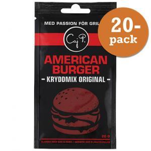 American Burger Kryddmix Original 20x20g Caj P