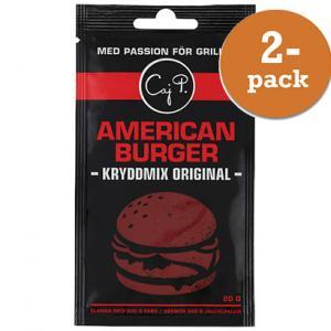 American Burger Kryddmix Original 2x20g Caj P