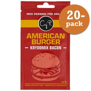 American Burger Kryddmix Bacon 20x20g Caj P