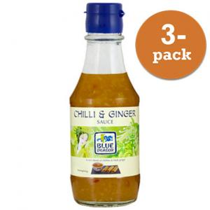 Chili & Ingefära Sås 3x190ml Blue Dragon