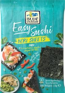 Easy Sushi Nori Mini Ark 12x13g Blue Dragon