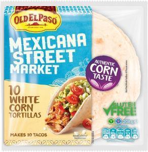 White Corn Tortilla Glutenfri 8x208g Old El Paso
