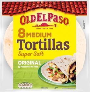 Flour Tortilla Medium 1x326g Old El Paso KORT HÅLLBARHET