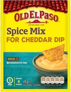 Cheddar Dip Mix 3x45g Old El Paso