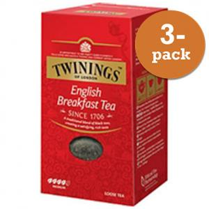 Te English Breakfast Lösvikt Twinings 3x200g
