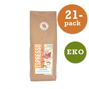 Kaffe Espresso Arabica Hela Bönor 21x450g Järna Rosteri