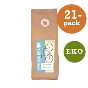 Kaffe Espresso Grande Hela Bönor 21x450g  Järna Rosteri