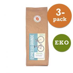 Kaffe Espresso Grande Hela Bönor 3x450g  Järna Rosteri