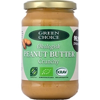 Jordnötssmör mix creamy/crunchy Green Choice 1/2 pall
