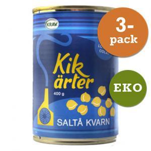 Kikärter, Kokta 3x400g Saltå Kvarn