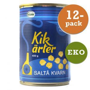 Kikärter, Kokta 12x400g Saltå Kvarn