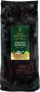 Espresso Sincero Hela Bönor Espresso Krav 1x1000g Arvid Nordquist KORT HÅLLBARHE