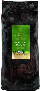 Kaffe Highland Nature Hela Bönor Mellanrost Krav 1x1000g Arvid Nordquist KORT DA