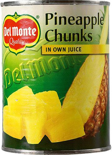 Ananas Bitar I Juice 6x3kg Del Monte