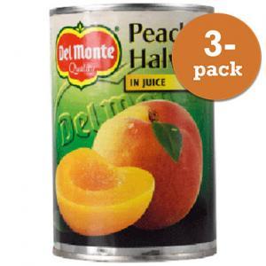 Persikohalvor I Juice 3x415g Del Monte
