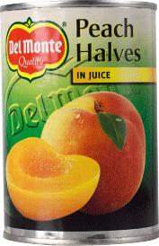 Persikohalvor I Juice 12x415g Del Monte