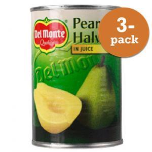 Päronhalvor I Juice 3x415g Del Monte