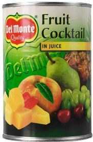 Fruktcocktail I Juice 3x415g Del Monte