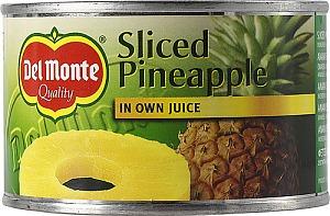 Ananas Skivor I Juice 24x220g Del Monte