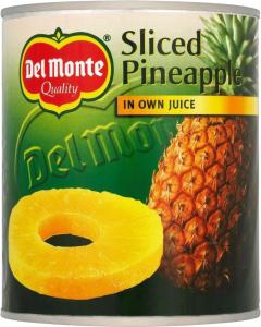 Ananas Skivor I Juice Del Monte 12x820g
