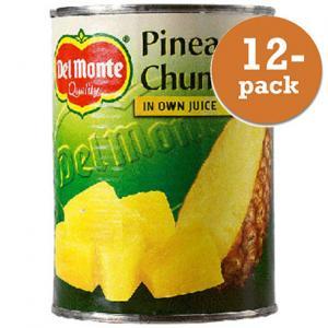 Ananas Bitar I Juice Del Monte 12x560g