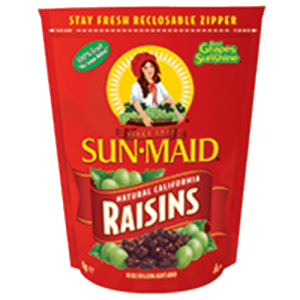 8st Russin paket från Sun Maid om 1kg vardera billigt hos Kolonialvaror. Alltid bra pris på skafferivaror i storpack. Perfekt för catering storhushåll restaurang och café. Vi levererar till hela Sverige!