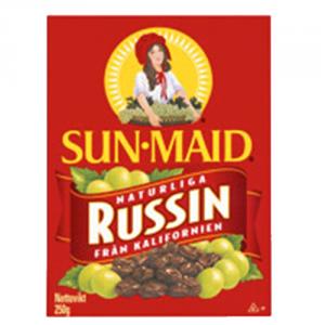 28st Russin paket från Sun Maid om 250g vardera billigt hos Kolonialvaror. Alltid bra pris på skafferivaror i storpack. Perfekt för catering storhushåll restaurang och café. Vi levererar till hela Sverige!