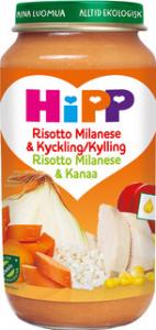 Barnmat 12-17 Mån Risotto Milanese & Kyckling Eko 6x250g Hipp