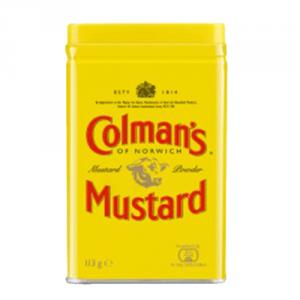 6st senapspulver från Coleman's om 454g vardera billigt hos Kolonialvaror. Alltid bra pris på skafferivaror i storpack. Perfekt för catering storhushåll restaurang och café. Vi levererar till hela Sverige!