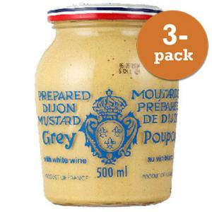 Dijonsenap Grey Poupon 3x500ml