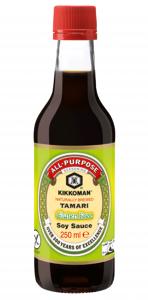6st japansk soja glutenfri från Kikkoman om 250ml vardera billigt hos Kolonialvaror. Alltid bra pris på skafferivaror i storpack. Perfekt för catering storhushåll restaurang och café. Vi levererar till hela Sverige!