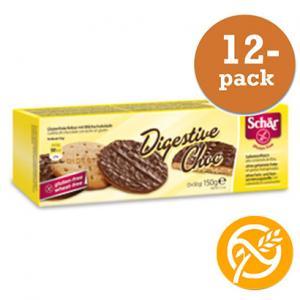 Digestive Choklad Glutenfri Dr Schär 12x150g