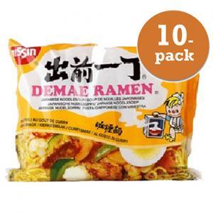 Nudlar Currysmak Nissin Damae Ramen 10x100g