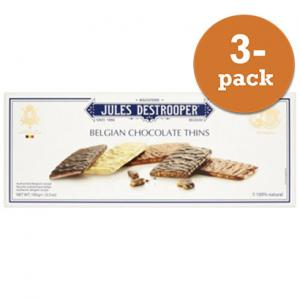 Belgian Chocolate Thins Jules Detrooper 3x100g