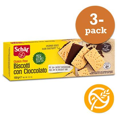 Biscotti Con Cioccolato Glutenfri Dr Schär 3x150g