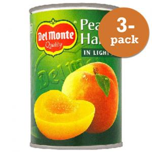 Persikohalvor I Syrup 3x420g Del Monte