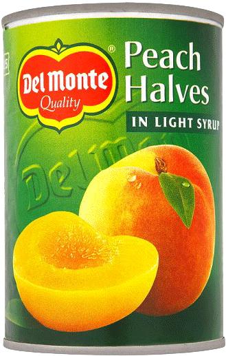 Persikohalvor I Syrup 12x420g Del Monte