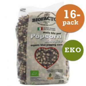 Popcorn Blå Eko 16x500g Biofactor