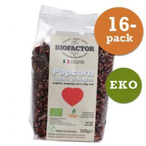 Popcorn Röd Eko 16x500g Biofactor