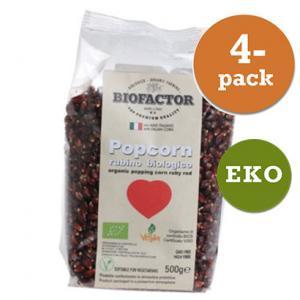 Popcorn Röd Eko 4x500g Biofactor