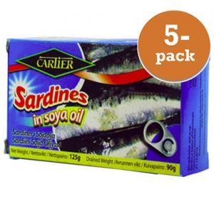 Sardiner I Olja 5x125g Cartier