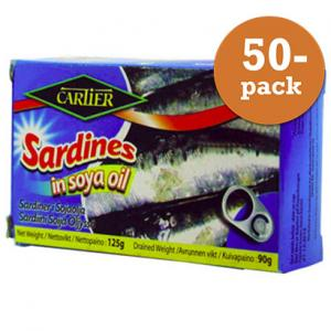 Sardiner I Olja 50x125g Cartier