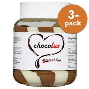 Choklad & Hasselnötscreme Mix 3x350g Chocolux